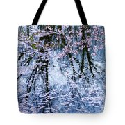 Cherry Blossom Reflections Tote Bag