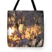 A Cherry Blossom Sunset Tote Bag
