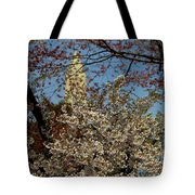 Cherry Blossoms And The Monument Tote Bag