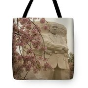 Cherry Blossoms At The Martin Luther King Jr Memorial Tote Bag