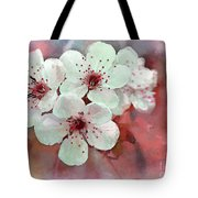 Apple Blossoms In Soft Pink - Digital Paint Tote Bag
