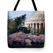 Cherry Blossoms Jefferson Memorial Tote Bag