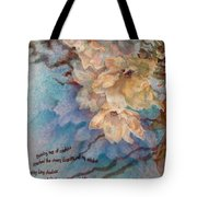 Cherry Blossoms N Lace Tote Bag