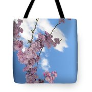Cherry Floral Fountain Tote Bag