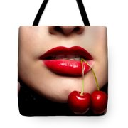 Cherry Girl Tote Bag