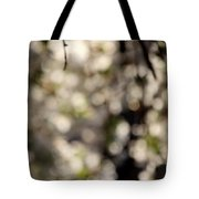 Cherry Tree Abstract Tote Bag