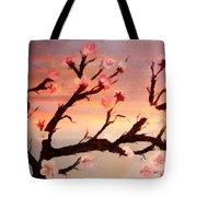 Cherry Tree Expresssive Brushstrokes Tote Bag