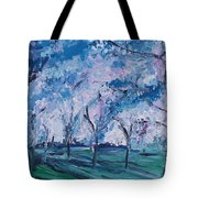 Cherry Trees Impressionism Tote Bag