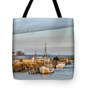 Chesapeake Fishing Boats Tote Bag