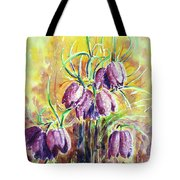 Chess Flowers Tote Bag