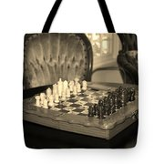 Chess Game Tote Bag