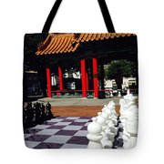 Chess In China Town Tote Bag