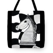 Chess Knight Tote Bag