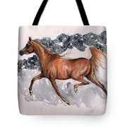 Chestnut Arabian Horse 2014 11 15 Tote Bag