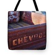 Chevrolet Apache 31 Pickup Truck Tail Gate Emblem Tote Bag