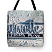 1966 Chevrolet Corvette Sting Ray Emblem -0052c Tote Bag