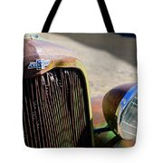 Chevrolet Grille Emblem - Head Light Tote Bag