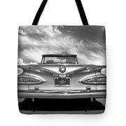 Chevrolet Impala 1959 In Black And White Tote Bag