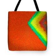 Chevron Rainbow Orange C2014 Tote Bag