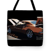 Chevy Camaro 67 Tote Bag