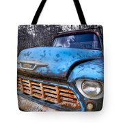 Chevy In The Woods Tote Bag by Debra and Dave Vanderlaan