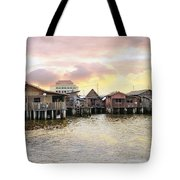 Chew Jetty Heritage Site In Penang Tote Bag