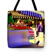 Chez Nino At Marche Jean Talon Montreal A Taste Of Culinary Culture  Food Art Scenes Carole Spandau  Tote Bag