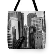 Chi Town  Sun Times Bw Tote Bag