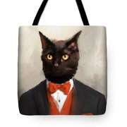 Chic Black Cat Tote Bag