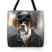 Chic Boxer Aviator Tote Bag by Jai Johnson