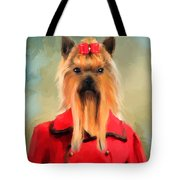 Chic Yorkshire Terrier Tote Bag