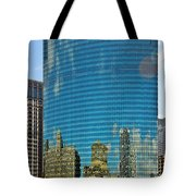 Chicago - 333 West Wacker Drive Tote Bag by Christine Till