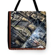 Chicago A View From The Top Of Sears Willis Tower Hdr Triptych 3 Panel Tote Bag