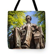 Chicago Abraham Lincoln Sitting Statue Tote Bag