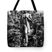 Chicago Abraham Lincoln Statue In Black And White Tote Bag by Paul Velgos