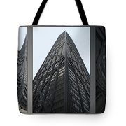 Chicago Abstract Before And After John Hancock Sw Facades Triptych 3 Panel Tote Bag