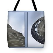Chicago Abstract Before And After Radisson Blu Hotel 2 Panel Tote Bag