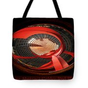 Chicago Abstract Calder Red Flamingo Triptych 3 Panel Tote Bag