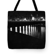 Chicago At Night Tote Bag