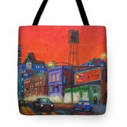 Chicago Avenue Looking West Tote Bag