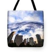 Chicago Bean Cloud Gate Skyline Tote Bag by Paul Velgos