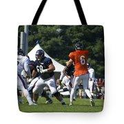 Chicago Bears G Matt Slauson Training Camp 2014 02 Tote Bag