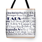 Chicago Bears Game Day Food 3 Tote Bag