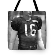 Chicago Bears P Patrick O'donnell Training Camp 2014 Bw Tote Bag
