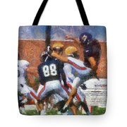 Chicago Bears P Patrick O'donnell Training Camp 2014 Photo Art 02 Tote Bag