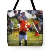 Chicago Bears Qb Jay Cutler Training Camp 2014 04 Photo Art 02 Tote Bag