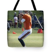 Chicago Bears Qb Jimmy Clausen Training Camp 2014 03 Tote Bag