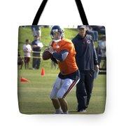 Chicago Bears Qb Jordan Palmer Training Camp 2014 04 Tote Bag