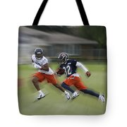 Chicago Bears Rb Michael Ford Moving The Ball Training Camp 2014 Tote Bag