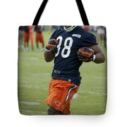 Chicago Bears Rb Shaun Draughn Training Camp 2014 01 Tote Bag